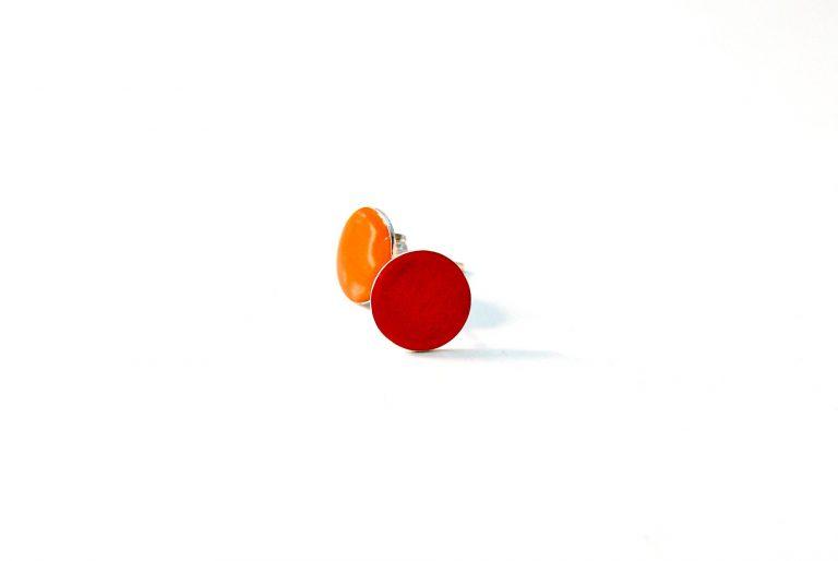 gekleurde oorstekers oranje