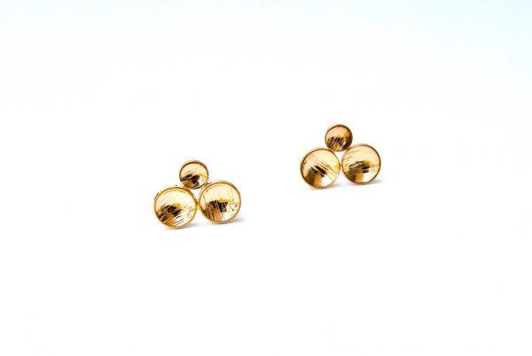 circle oorstekers tre giro goud