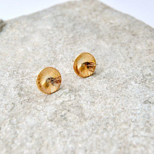 circle oorstekers uno goud