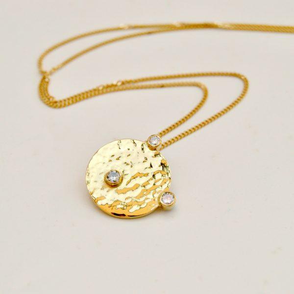 hanger geel goud diamant