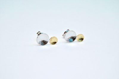 oorbellen wit geel goud