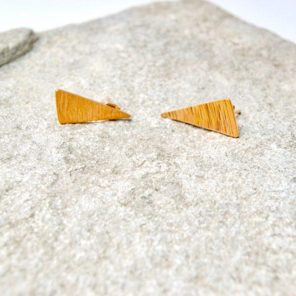 triangle oorstekers goud