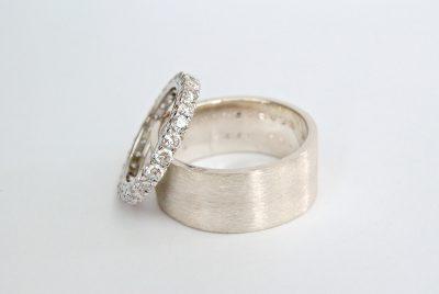 trouwringen alliance wit goud diamant