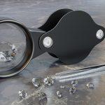 diamant verschillende grootte loupe karaat