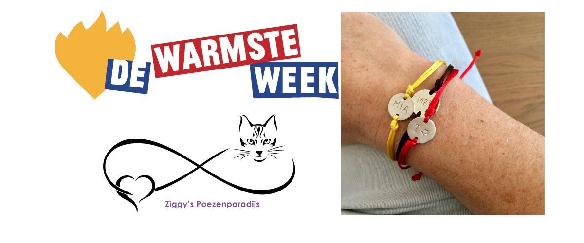 Armband Ziggy's Poezenparadijs De Warmste Week