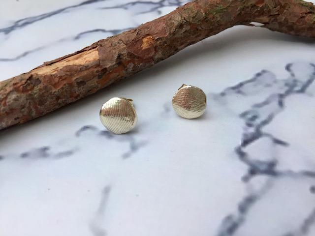 Gepersonaliseerde oorbellen vingerafdruk geel goud
