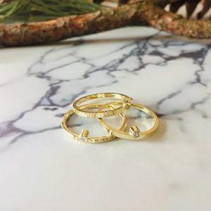 Fijne gouden aanschuifringen diamant