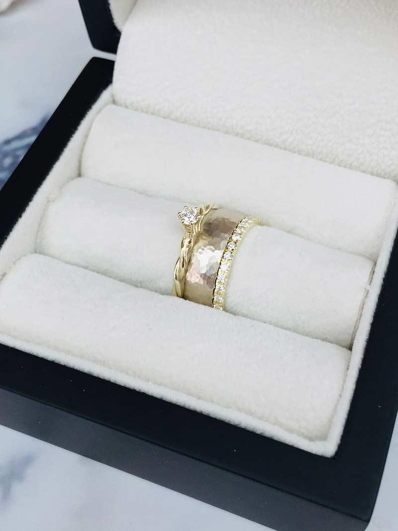 Combinatie trouwring verlovingsring