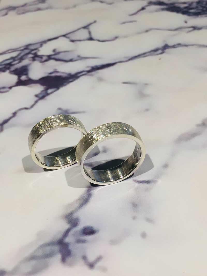 Gematteede trouwringen